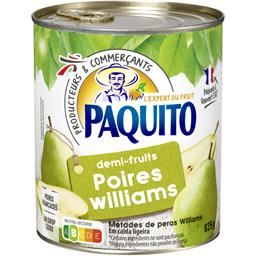 Poires Williams demi-fruits au sirop léger