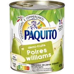 Poires Williams demi-fruits au sirop léger