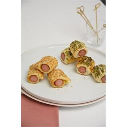 Mini feuilletés saucisses de volaille moutarde/natur...