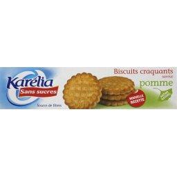 Biscuits craquants saveur pomme sans sucres