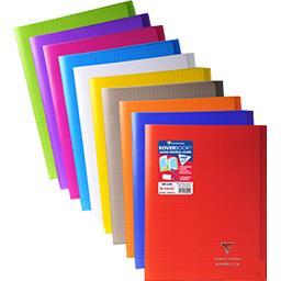 Cahier piqure avec rabats 240x320 seyès coloris asso...