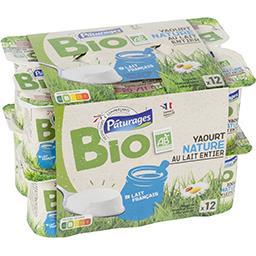 Yaourts nature au lait entier BIO
