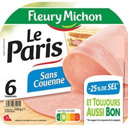 Jambon cuit de Paris sans couenne de qualité supérie...
