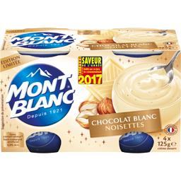 Crème dessert chocolat blanc noisettes