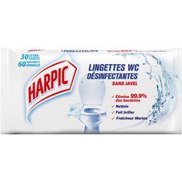 Harpic Lingettes WC désinfectantes sans javel