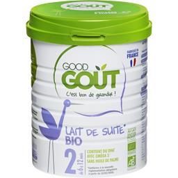 Good Goût Lait infantile 2ème âge dès 6 mois BIO la boite de 800 g