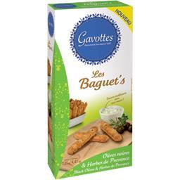 Les Baguet's - Biscuits apéritif olives & herbes de Provence