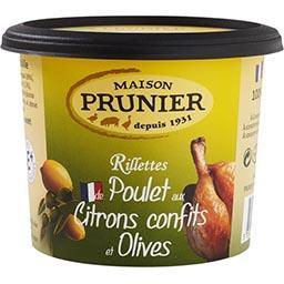 Rillettes de poulet citrons confits et olives