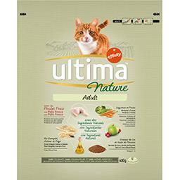 Nature - Croquettes chat adulte au poulet, légumes, ...