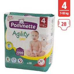 Couches Agility Dry, taille 4 : 7-18 kg