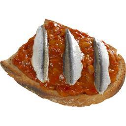 Bruschettas anchois piperade