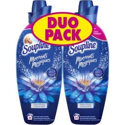 Soupline Moments Magiques - Adoucissant Câlin d'amour les 2 bidons de 1,2 l - Duo Pack