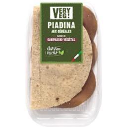 Piadina aux céréales garnie de carpaccio végétal