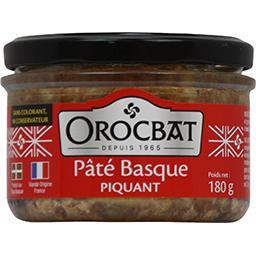 Orocbat Pâté basque piquant le pot de 180 g