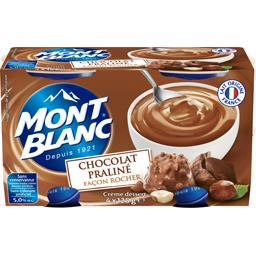 Crème dessert chocolat praliné façon Rocher