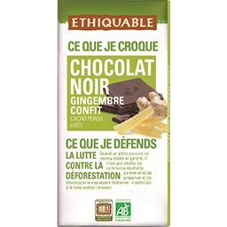 Chocolat noir gingembre confit BIO