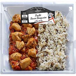 Lechef Poulet sauce basquaise & duo de riz la barquette de 900 g