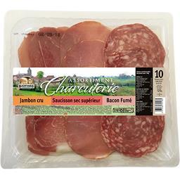 Bastides Salaisons Assortiment charcuterie jambon cru/saucisson sec/bac... le plateau de 10 - 120 g