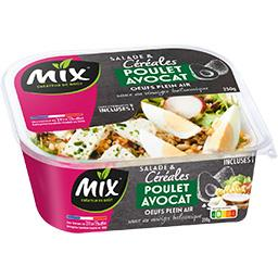 Mix Salade de céréales poulet avocat