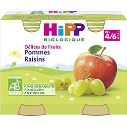 Délices de Fruits - Pommes raisins BIO, dès 4/6 mois
