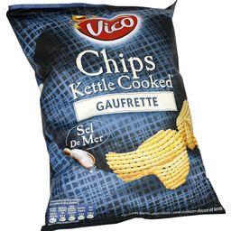 Chips kettle cooked gaufrette au sel de mer, VICO, 120g