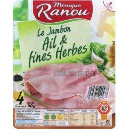 Jambon cuit fines herbes, qualité supérieure - Mon Gourmand