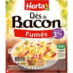 Dés de bacon fumés