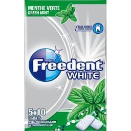 Freedent White - Chewing-gum menthe verte sans sucres