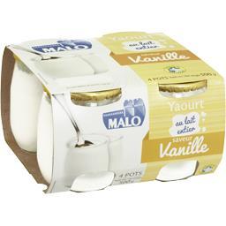 Malo Yaourt au lait entier saveur vanille