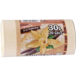 Sac poubelle 30 L parfumé à la vanille