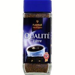 Café décaféiné Qualité Filtre