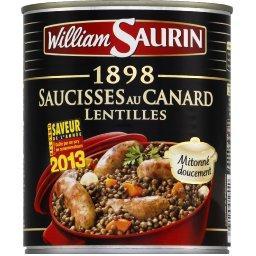 1898 - Saucisses au canard lentilles