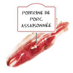 Poitrine de porc assaisonnée, FABRICATION MAISON