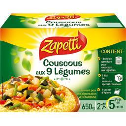 Couscous aux 9 légumes