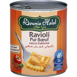 Ravioli pur bœuf sauce italienne halal