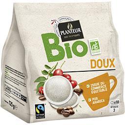 Dosettes de café moulu Doux BIO