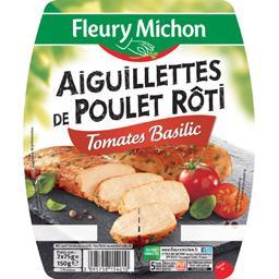 Aiguillettes de poulet rôti tomates basilic