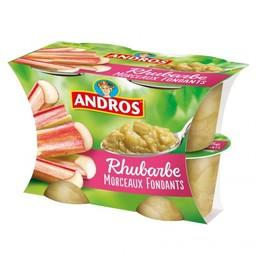 Dessert rhubarbe morceaux fondants