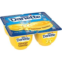 Danette - Crème dessert saveur vanille sur lit au caramel