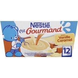 P'tit Gourmand - Dessert saveur vanille caramel, 12+...