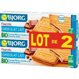Biscuits fourrés chocolat au lait BIO