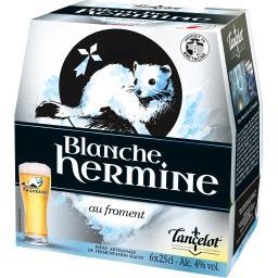 Lancelot Bière blanche Hermine les 6 bouteilles de 25 cl