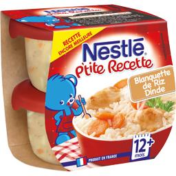 P'tite Recette - Blanquette de riz dinde, 12+ mois