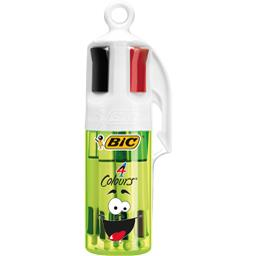 Bic Tube décor Smiley de 4 couleurs le