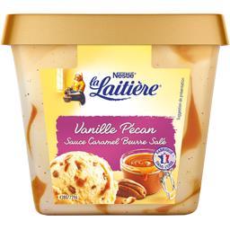 Crème glacée vanille pécan sauce caramel beurre salé