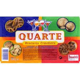 Quarte, biscuits crackers apéritif