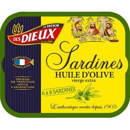 Le Trésor des Dieux Sardines à l'huile d'olive vierge la boite de 173 g