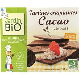 Tartines craquantes BIO cacao céréales