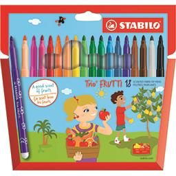 Feutres de coloriage Trio Frutti