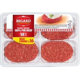 Steaks hachés 15% MG 100% pur bœuf